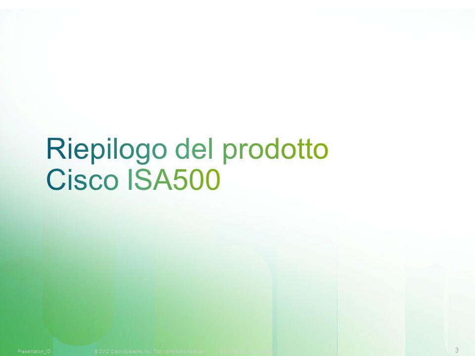 3 © 2012 Cisco Systems, Inc. Tutti i diritti sono riservati.Documento riservato CiscoPresentation_ID