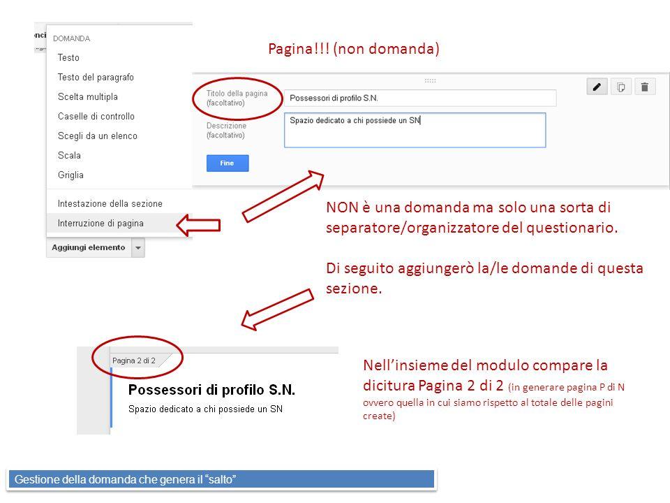 Pagina!!! (non domanda) NON è una domanda ma solo una sorta di separatore/organizzatore del questionario. Di seguito aggiungerò la/le domande di quest