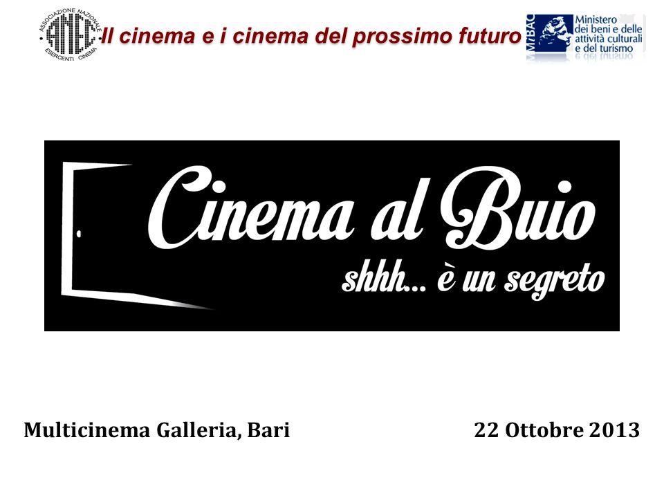 Multicinema Galleria, Bari 22 Ottobre 2013 Il cinema e i cinema del prossimo futuro