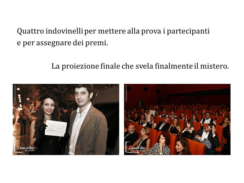 Promozione: sito internet www.cinemalbuio.it, social network, comunicati e conferenza stampa, bistrot arredato a tema (vetrina e tovagliette personalizzate).