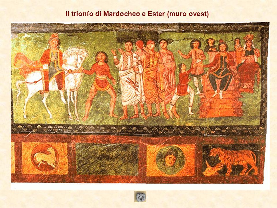 Il trionfo di Mardocheo e Ester (muro ovest)