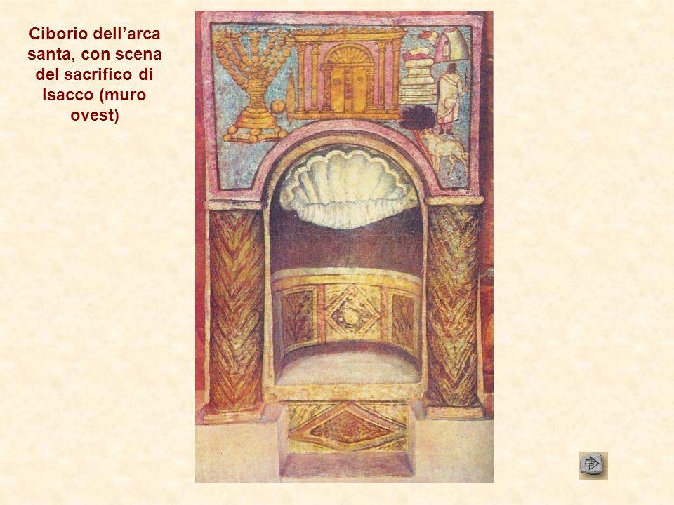 Ciborio dellarca santa, con scena del sacrifico di Isacco (muro ovest)