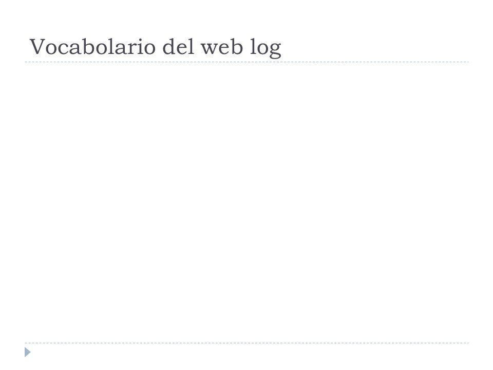 Vocabolario del web log