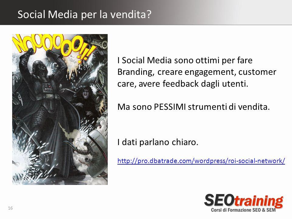 Social Media per la vendita.