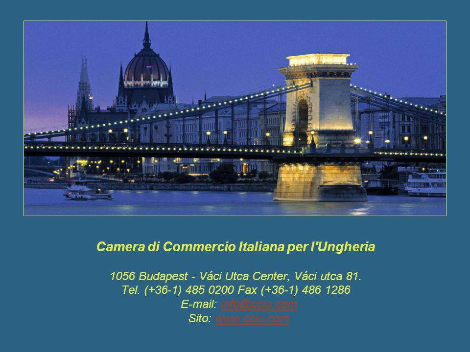 Camera di Commercio Italiana per l Ungheria 1056 Budapest - Váci Utca Center, Váci utca 81.