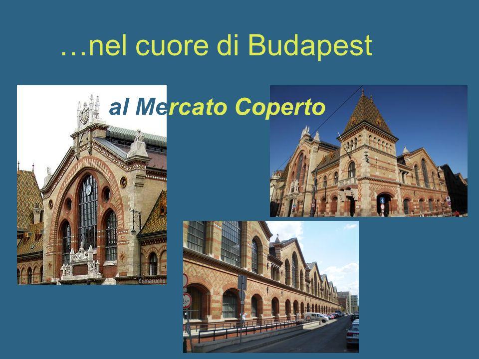…nel cuore di Budapest al Mercato Coperto