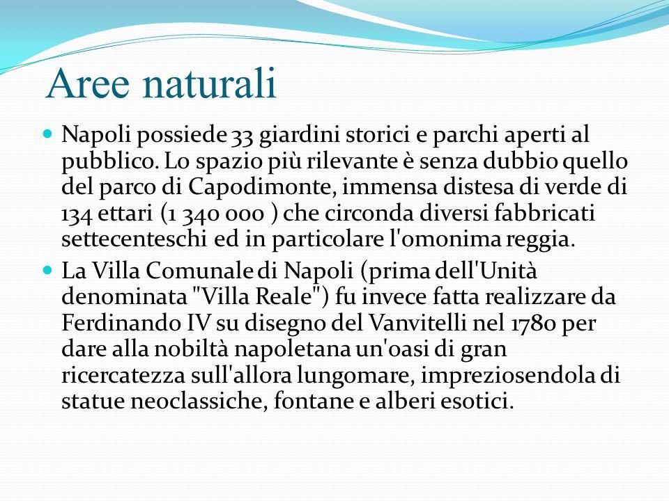 Aree naturali Napoli possiede 33 giardini storici e parchi aperti al pubblico.