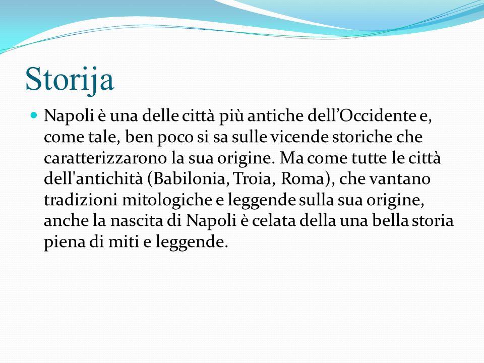 Storija Napoli è una delle città più antiche dellOccidente e, come tale, ben poco si sa sulle vicende storiche che caratterizzarono la sua origine.
