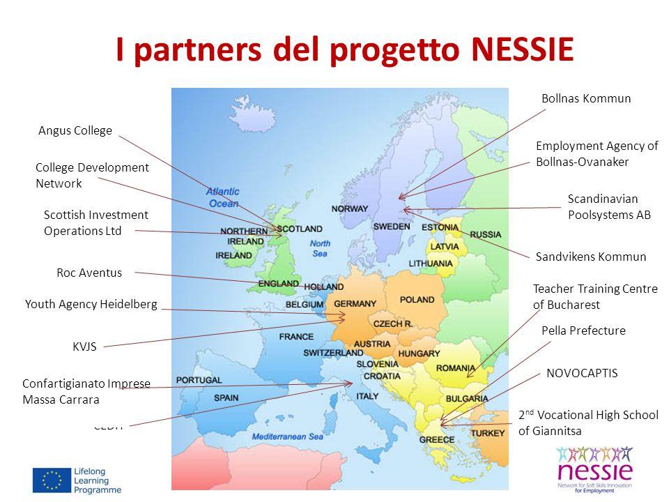 I partners del progetto NESSIE Angus College College Development Network 2 nd Vocational High School of Giannitsa Roc Aventus CEDIT Bollnas Kommun Tea