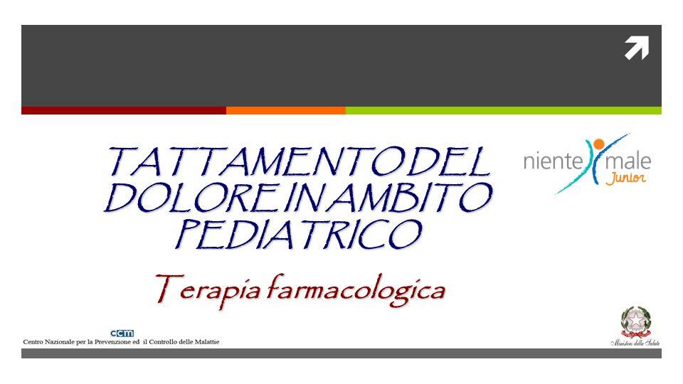 TATTAMENTO DEL DOLORE IN AMBITO PEDIATRICO Terapia farmacologica