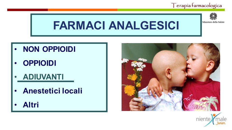 NON OPPIOIDI OPPIOIDI ADIUVANTI Anestetici locali Altri FARMACI ANALGESICI Terapia farmacologica