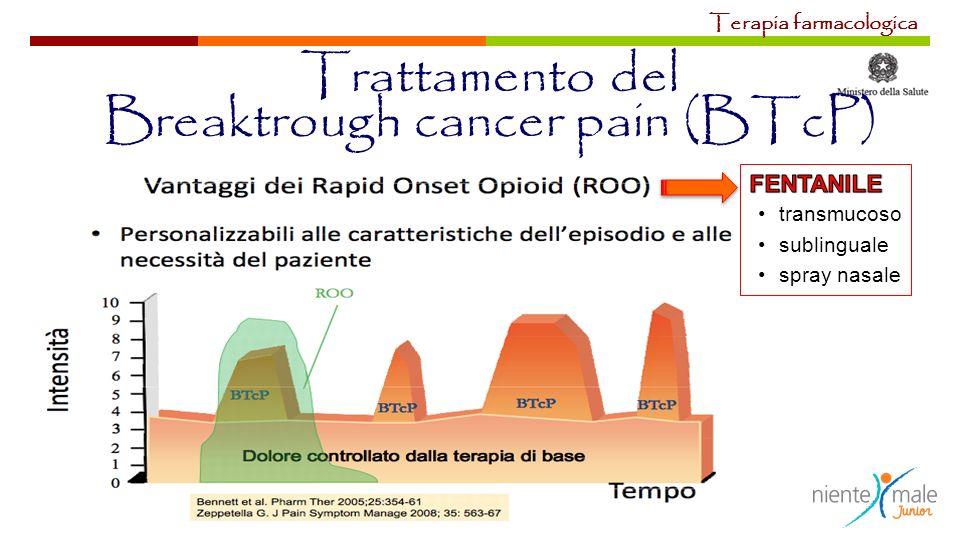 Terapia farmacologica Trattamento del Breaktrough cancer pain (BTcP)