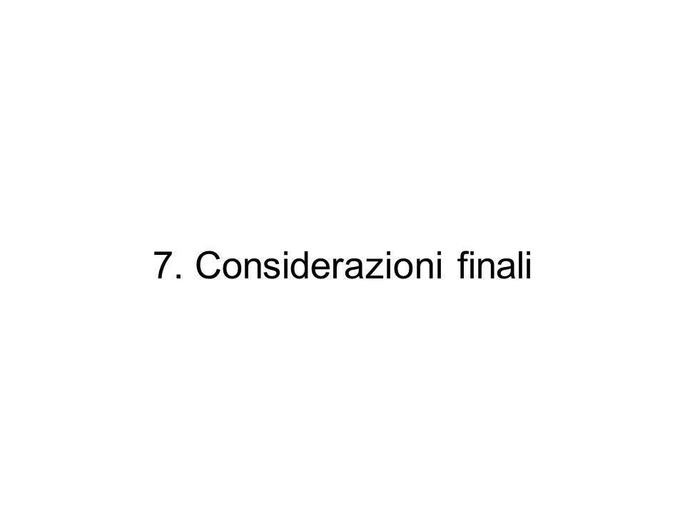 7. Considerazioni finali