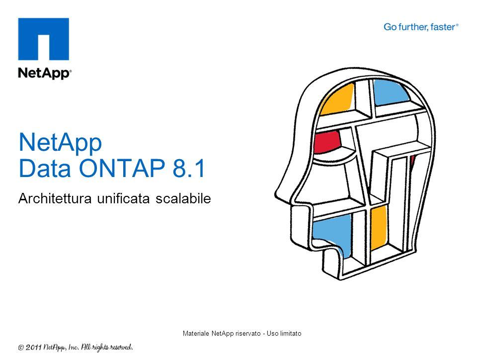 Architettura unificata scalabile NetApp Data ONTAP 8.1 Materiale NetApp riservato - Uso limitato