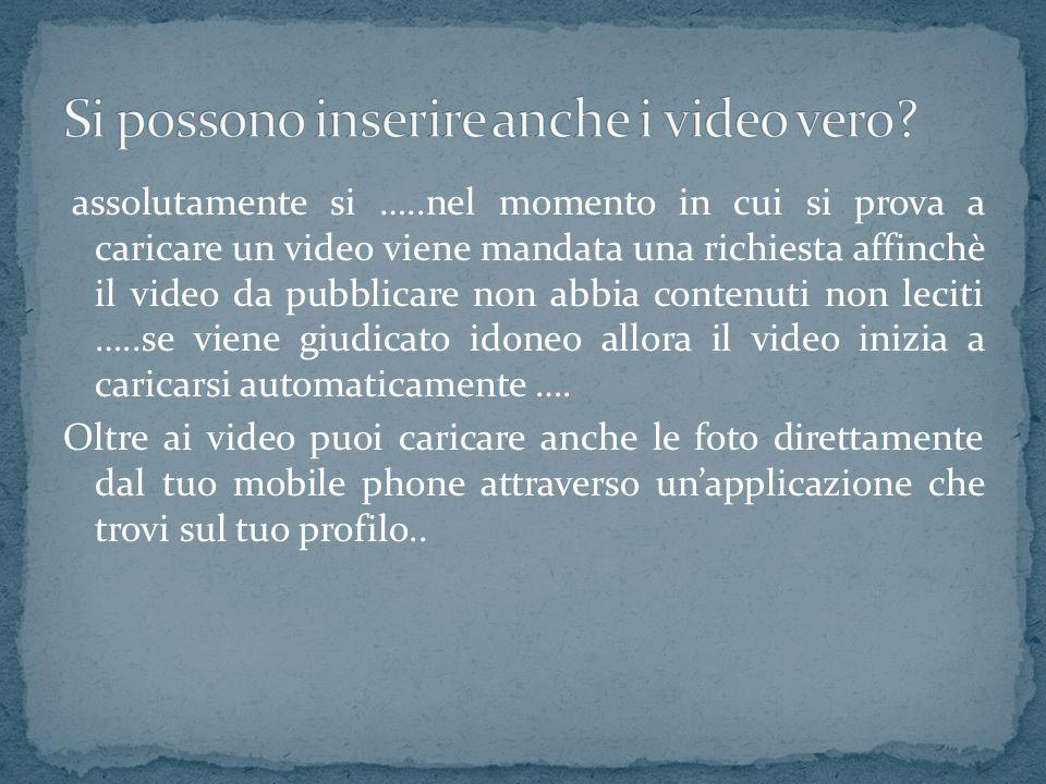 assolutamente si …..nel momento in cui si prova a caricare un video viene mandata una richiesta affinchè il video da pubblicare non abbia contenuti no