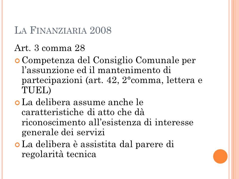 L A F INANZIARIA 2008 Art.