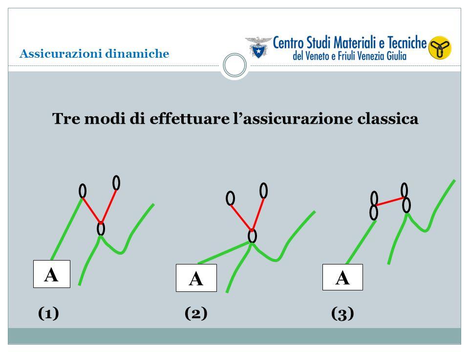 A A A (1)(2)(3) Tre modi di effettuare lassicurazione classica Assicurazioni dinamiche