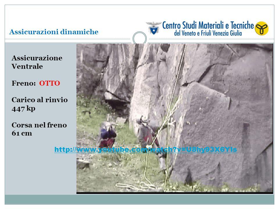 Assicurazione Ventrale Freno: OTTO Carico al rinvio 447 kp Corsa nel freno 61 cm Assicurazioni dinamiche http://www.youtube.com/watch?v=U8hy93X6YIs