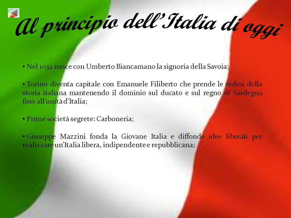 Nel 1032 nasce con Umberto Biancamano la signoria della Savoia; Torino diventa capitale con Emanuele Filiberto che prende le redini della storia itali