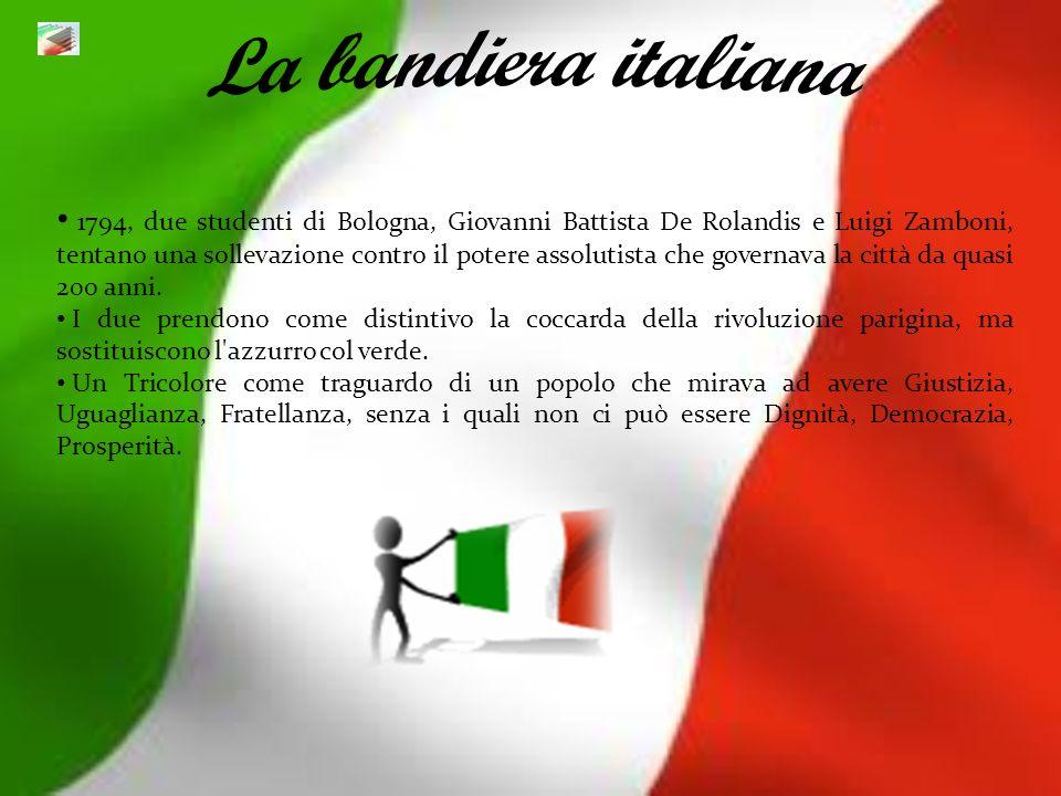 1794, due studenti di Bologna, Giovanni Battista De Rolandis e Luigi Zamboni, tentano una sollevazione contro il potere assolutista che governava la c