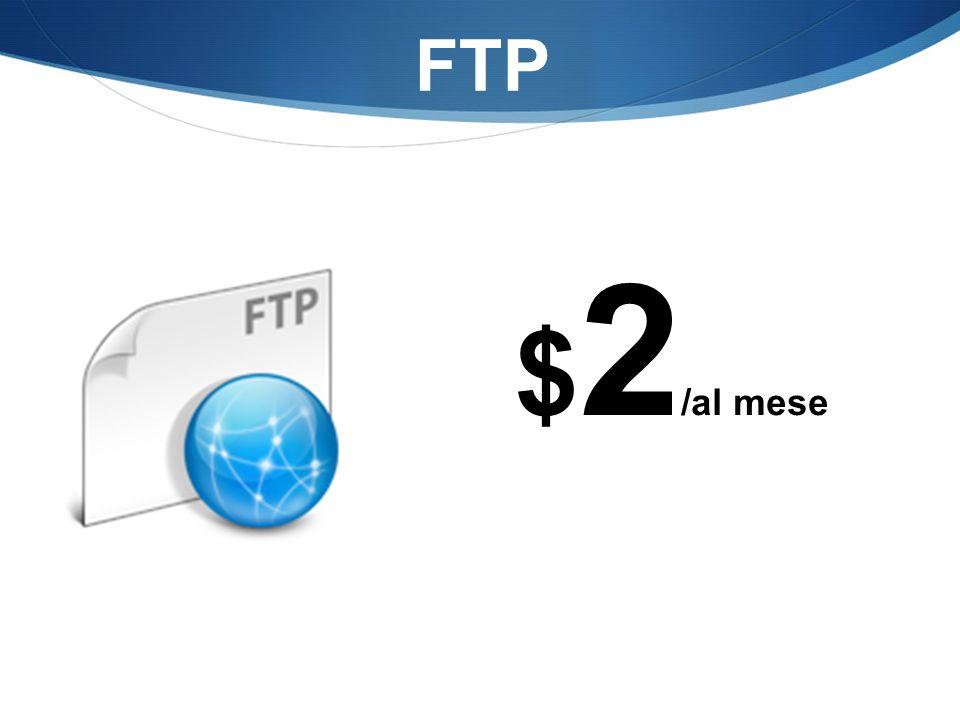 FTP $ 2 /al mese