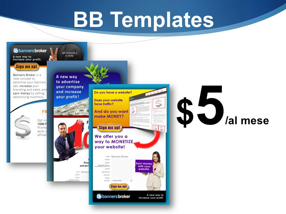 BB Templates $ 5 /al mese