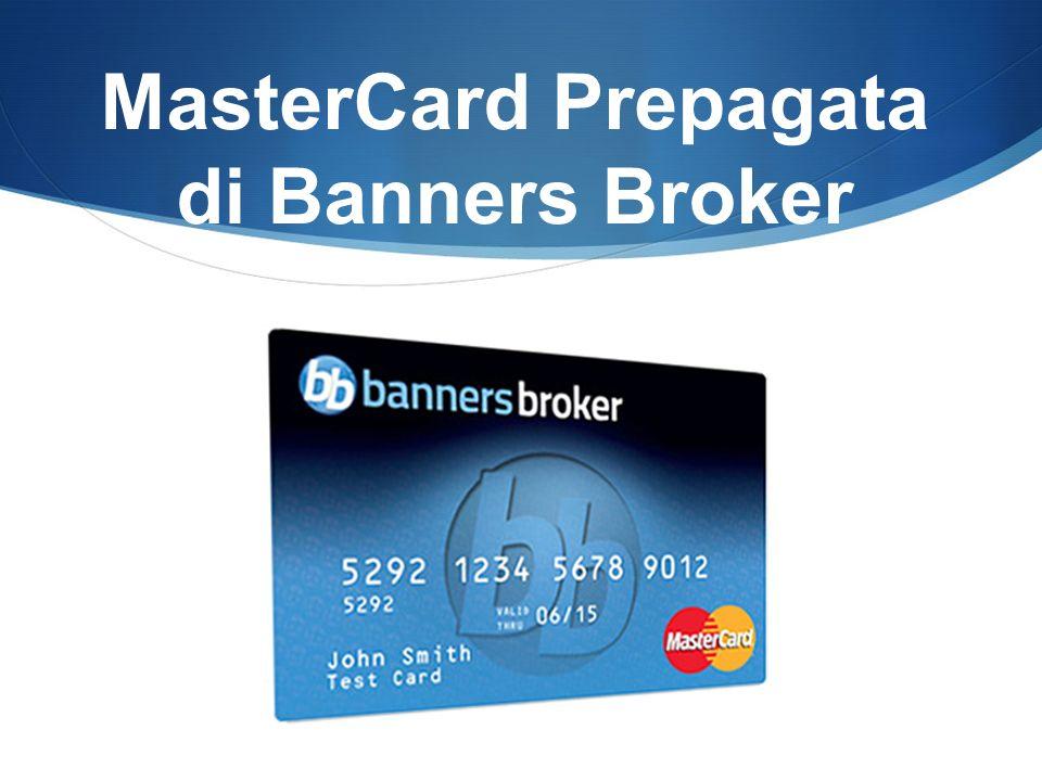 MasterCard Prepagata di Banners Broker
