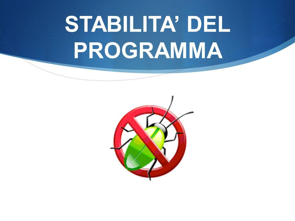 STABILITA DEL PROGRAMMA