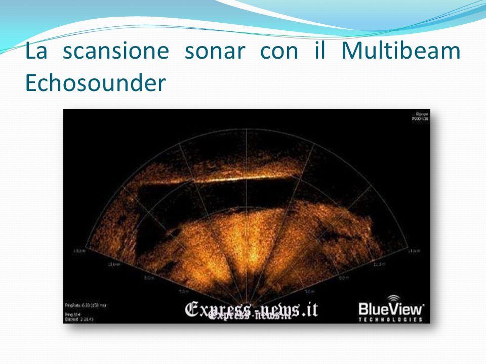La scansione sonar con il Multibeam Echosounder