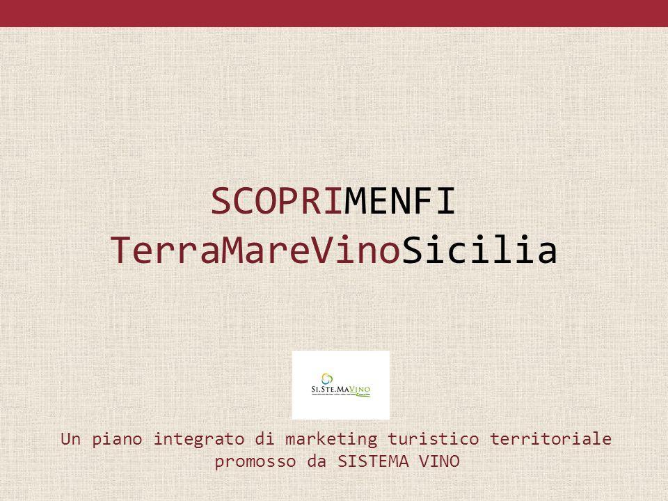 SCOPRIMENFI TerraMareVinoSicilia Un piano integrato di marketing turistico territoriale promosso da SISTEMA VINO