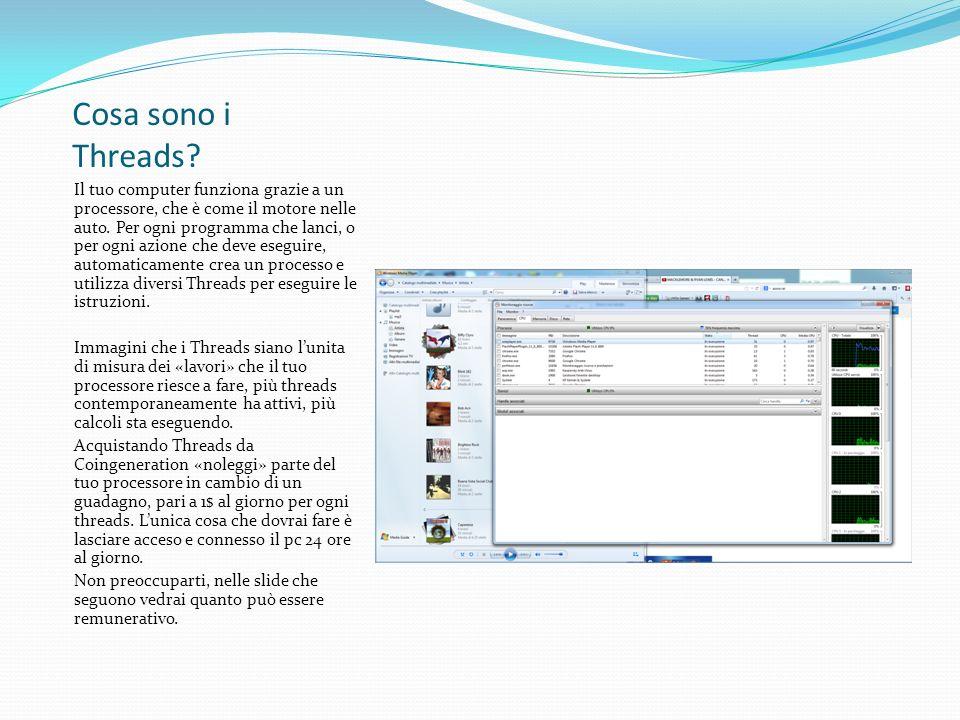Come vedi, a ogni applicazione vengono dedicati dei Thread dal sistema.