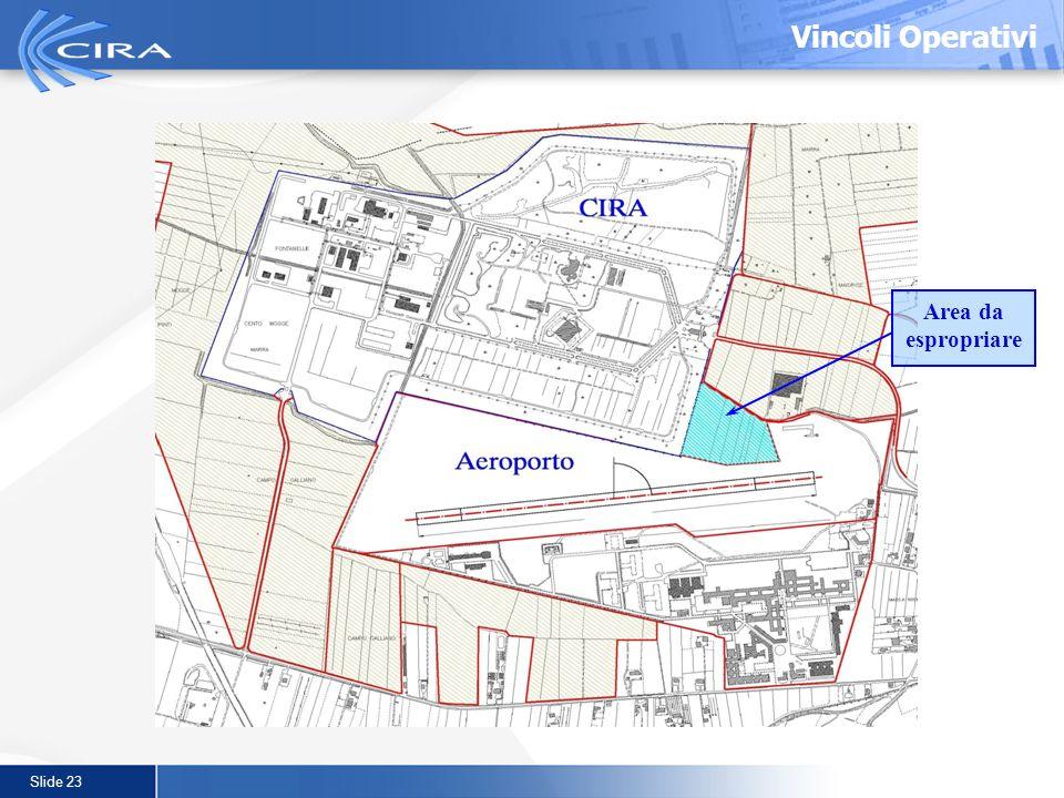 Slide 23 Area da espropriare Vincoli Operativi