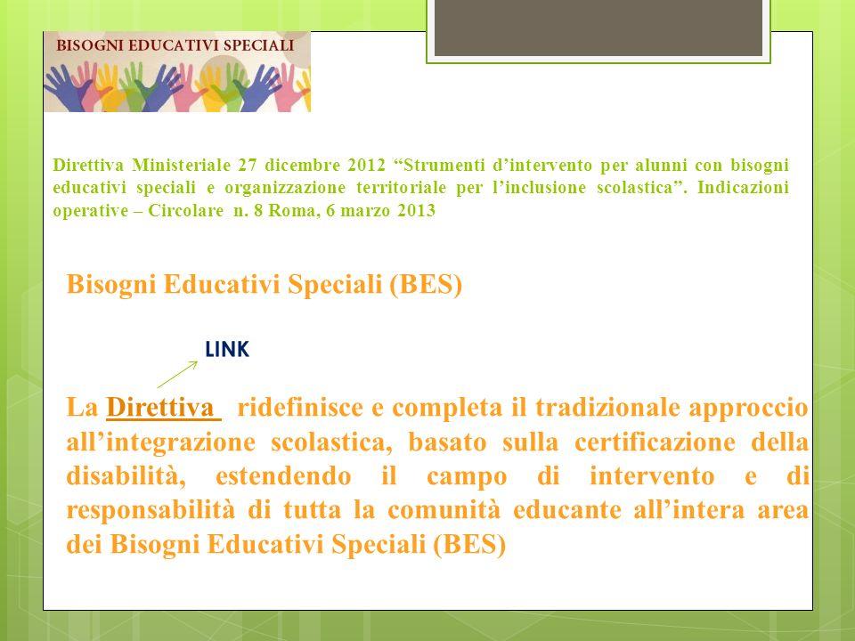 Direttiva Ministeriale 27 dicembre 2012 Strumenti dintervento per alunni con bisogni educativi speciali e organizzazione territoriale per linclusione scolastica.