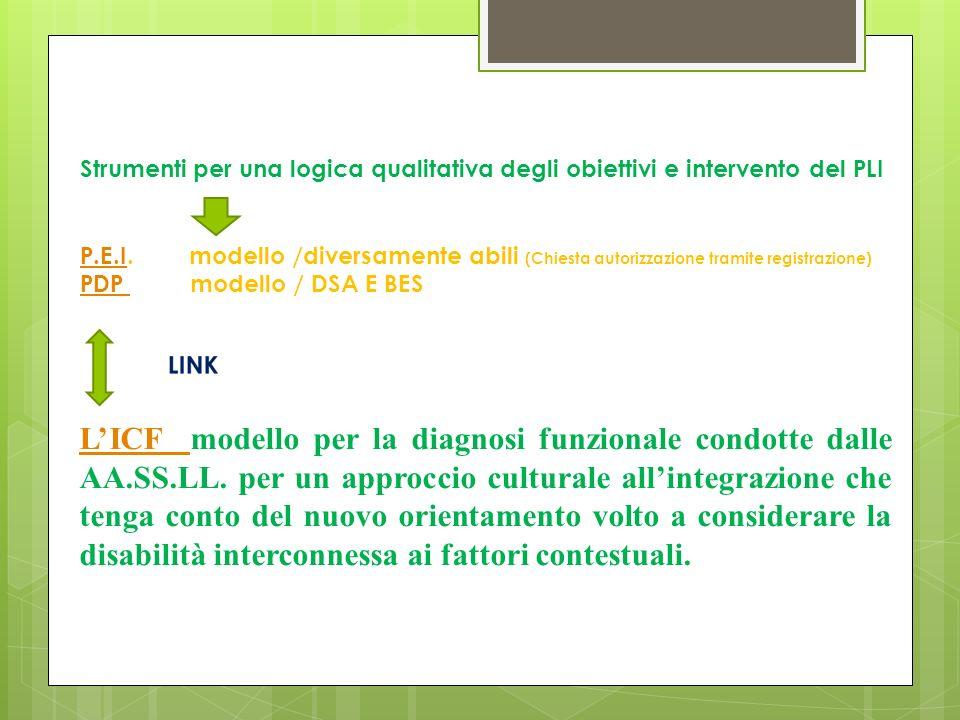 LICF LICF modello per la diagnosi funzionale condotte dalle AA.SS.LL.