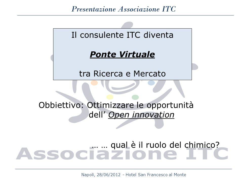 Napoli, 28/06/2012 - Hotel San Francesco al Monte Presentazione Associazione ITC Il consulente ITC diventa Ponte Virtuale tra Ricerca e Mercato Obbiet