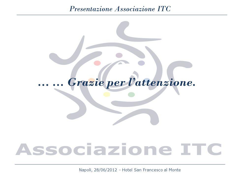 Napoli, 28/06/2012 - Hotel San Francesco al Monte Presentazione Associazione ITC … … Grazie per lattenzione.