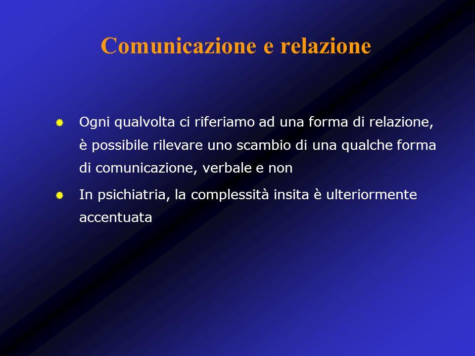 Comunicazione e relazione Ogni qualvolta ci riferiamo ad una forma di relazione, è possibile rilevare uno scambio di una qualche forma di comunicazion