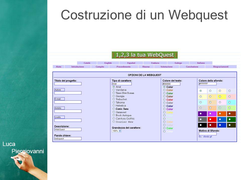 Griglia di valutazione di un Webquest Luca Piergiovanni