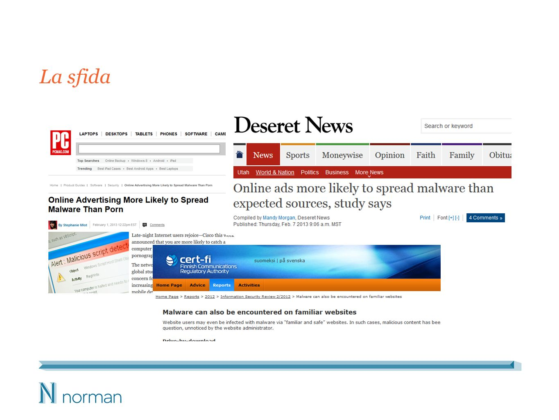 I siti web legittimi costituiscono la fonte principale di malware.