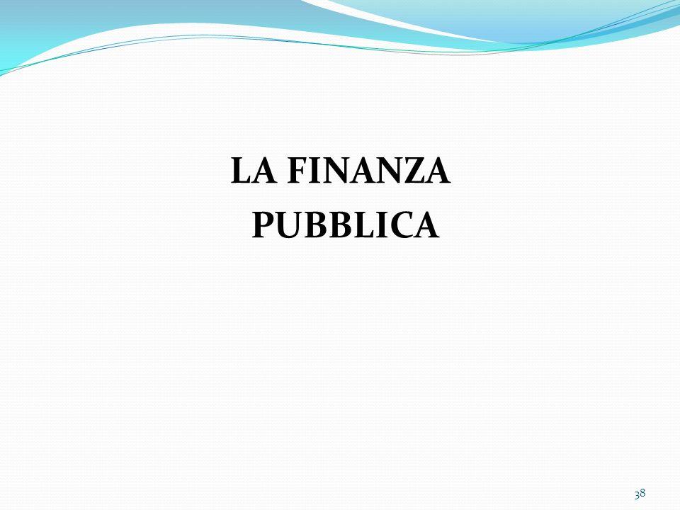 LA FINANZA PUBBLICA 38