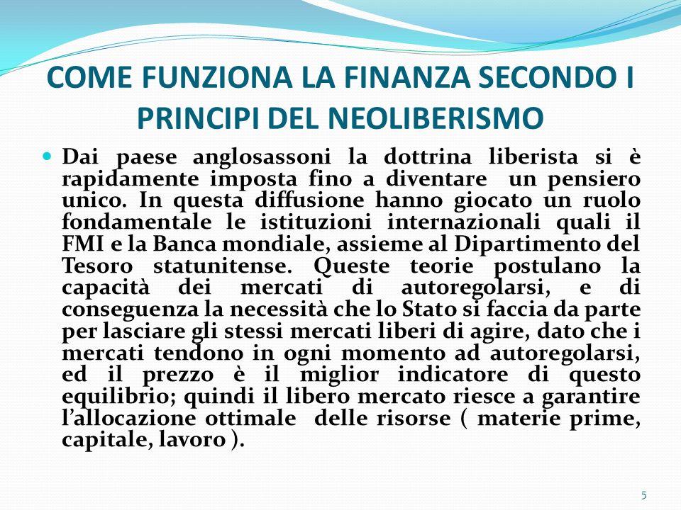 Lo sviluppo della finanza è stato quindi funzionale alla creazione di una massa crescente di debiti, ovvero è stato il mezzo che ha permesso questa trasformazione economica e sociale.