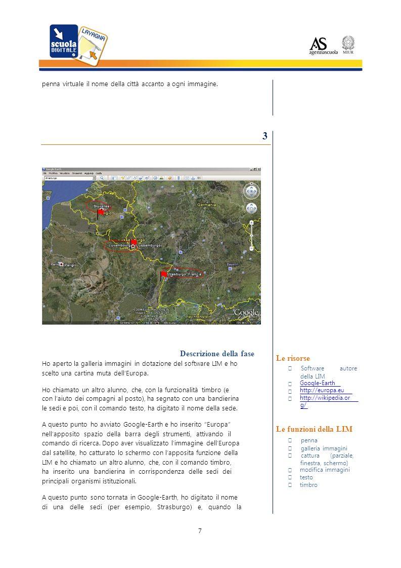 penna virtuale il nome della città accanto a ogni immagine.