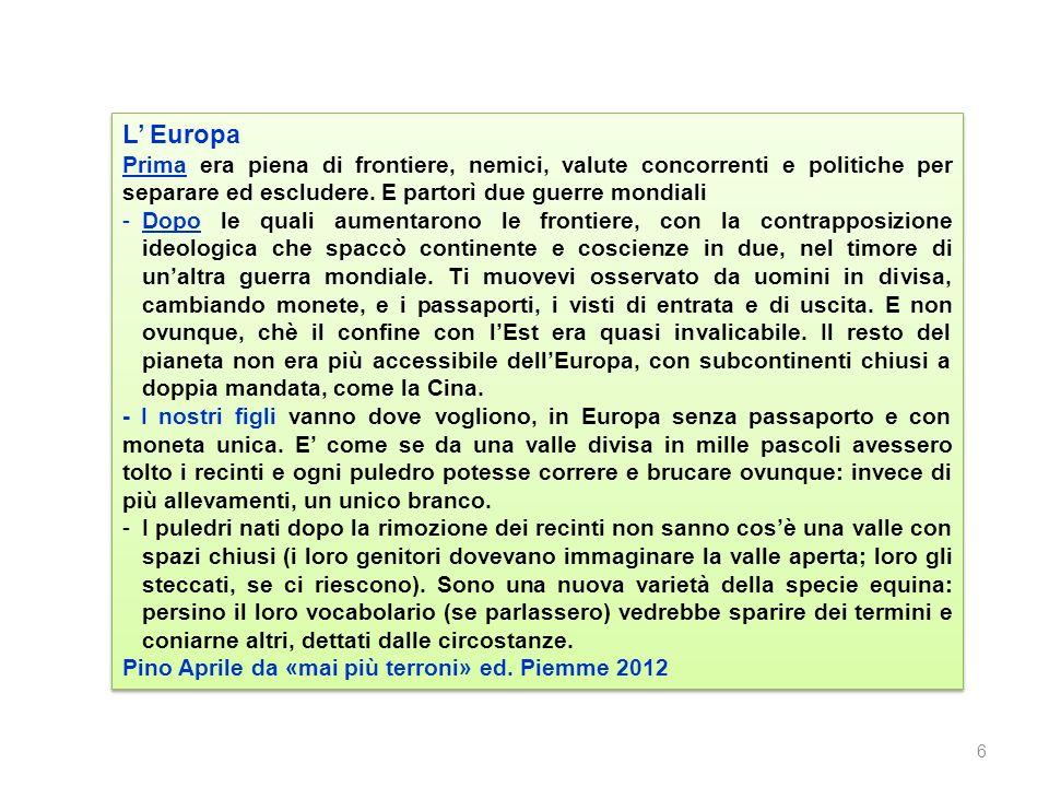L Europa Prima era piena di frontiere, nemici, valute concorrenti e politiche per separare ed escludere.