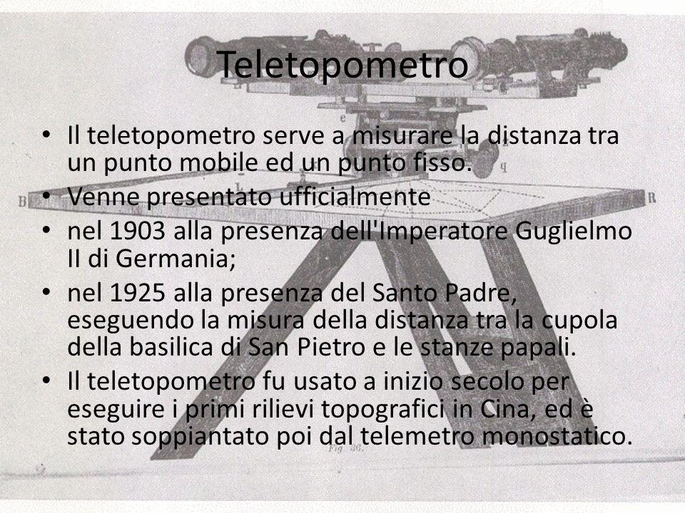 Teletopometro Il teletopometro serve a misurare la distanza tra un punto mobile ed un punto fisso.