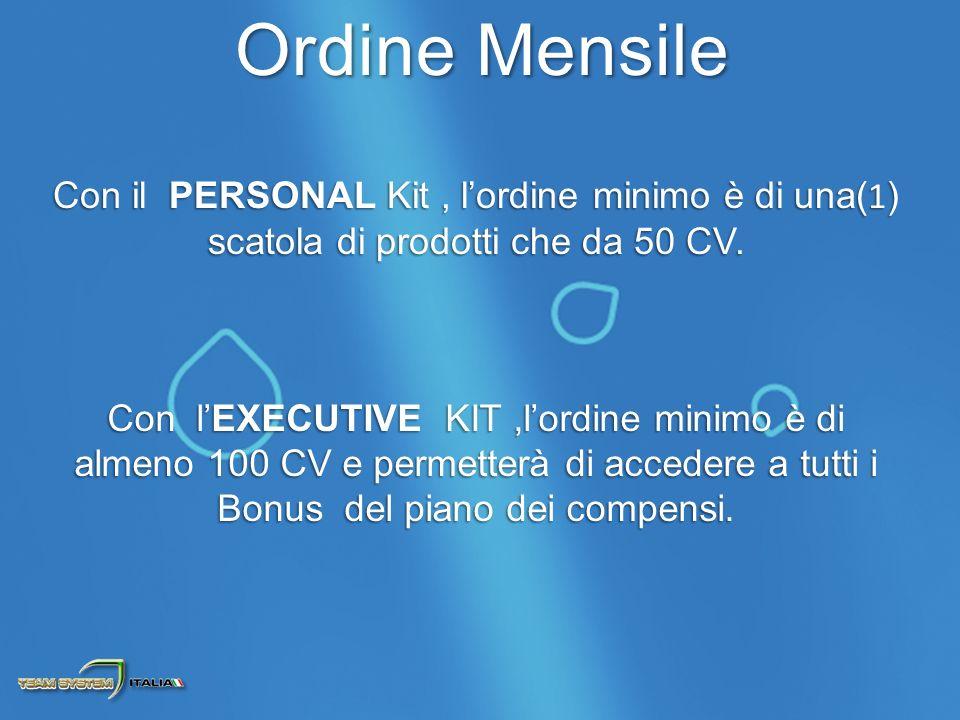 Con il PERSONAL Kit, lordine minimo è di una( 1 ) scatola di prodotti che da 50 CV.