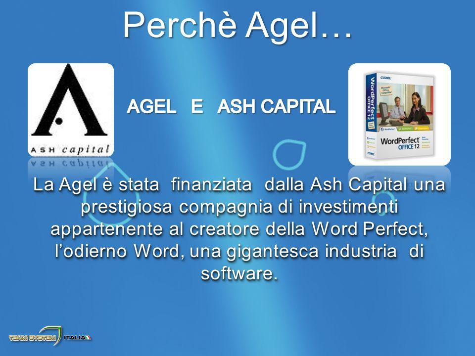La Agel è stata finanziata dalla Ash Capital una prestigiosa compagnia di investimenti appartenente al creatore della Word Perfect, lodierno Word, una gigantesca industria di software.