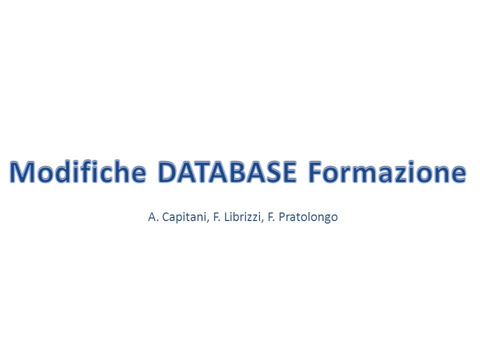 A. Capitani, F. Librizzi, F. Pratolongo