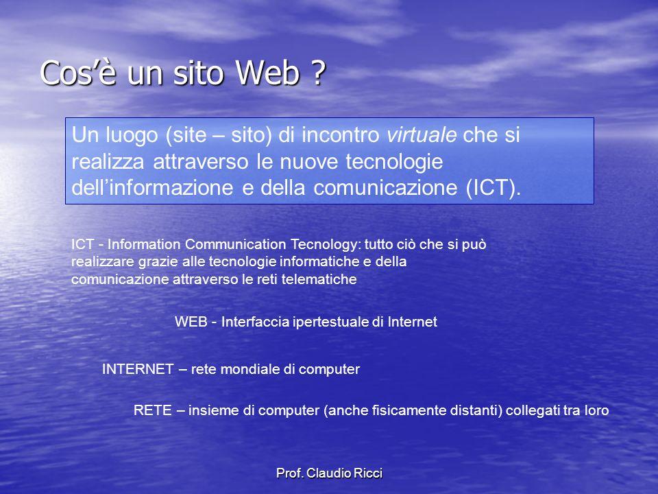 Prof. Claudio Ricci Cosè un sito Web .