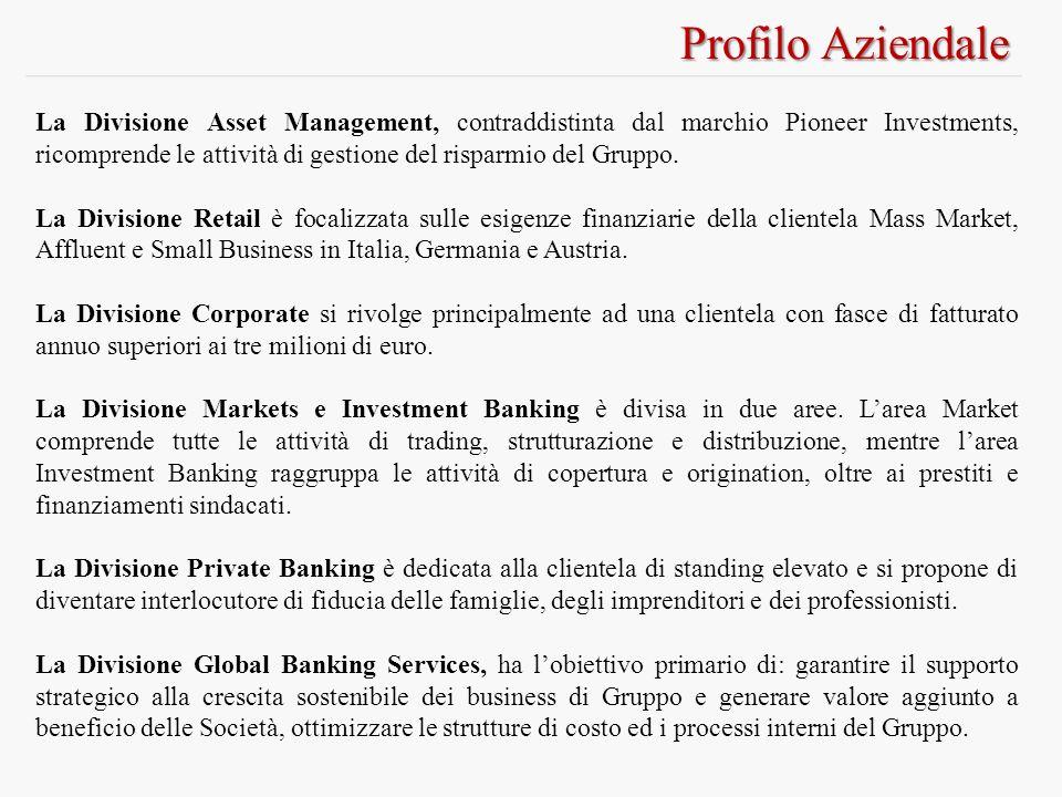 Profilo Aziendale La Divisione Asset Management, contraddistinta dal marchio Pioneer Investments, ricomprende le attività di gestione del risparmio del Gruppo.