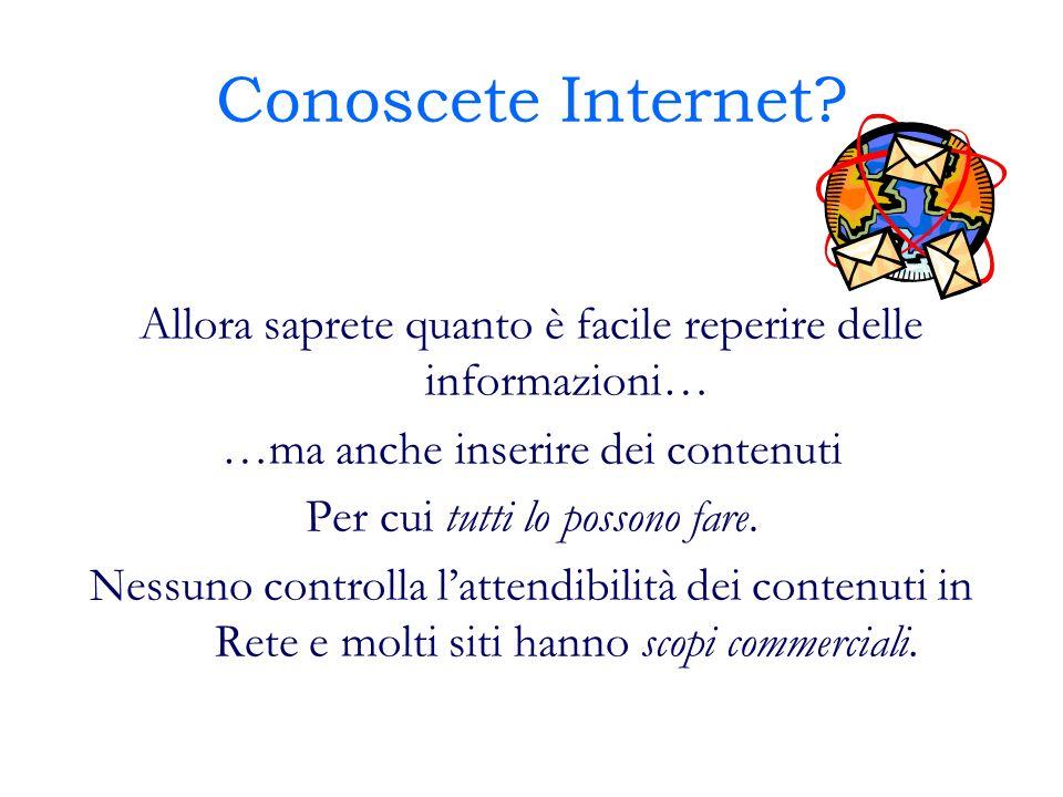Conoscete Internet.